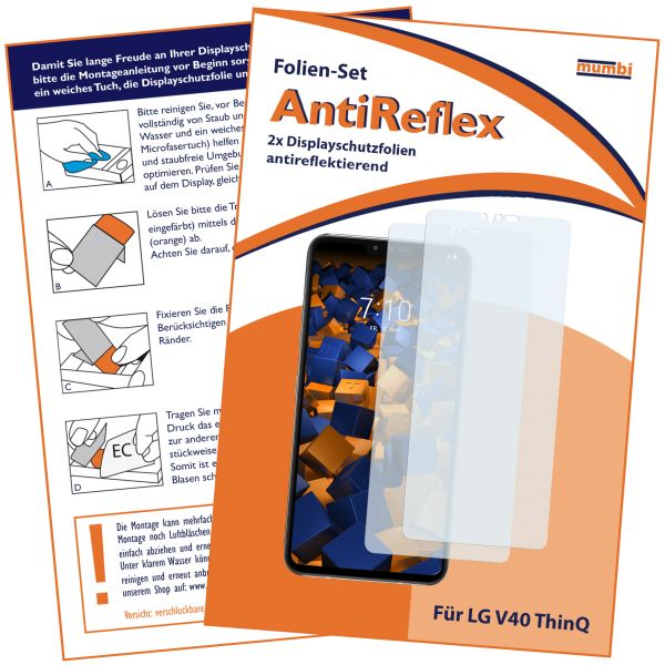 Displayschutzfolie 2 Stck. AntiReflex für LG V40 ThinQ