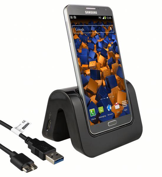 Dockingstation + USB Datenkabel schwarz für Samsung Galaxy Note 3