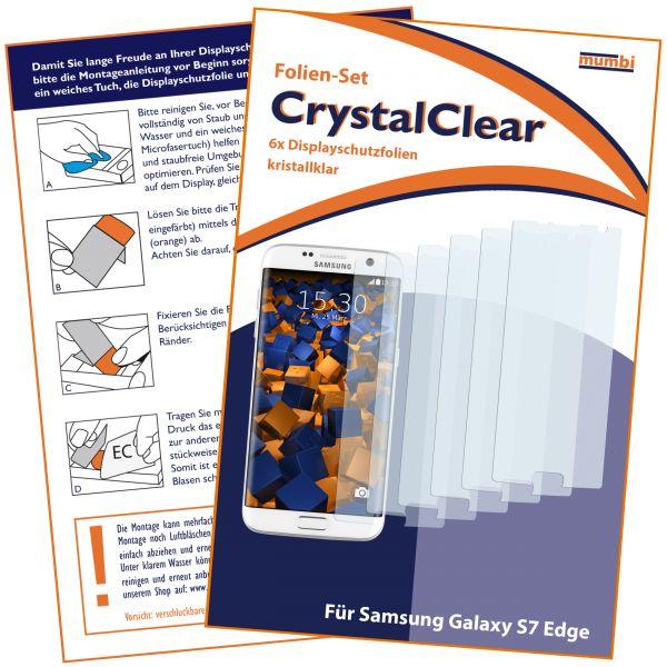 Displayschutzfolie 6 Stck. CrystalClear für Samsung Galaxy S7 Edge