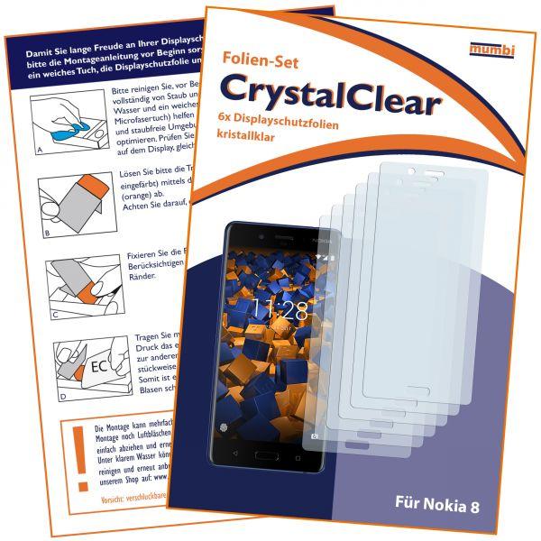 Displayschutzfolie 6 Stck. CrystalClear für Nokia 8