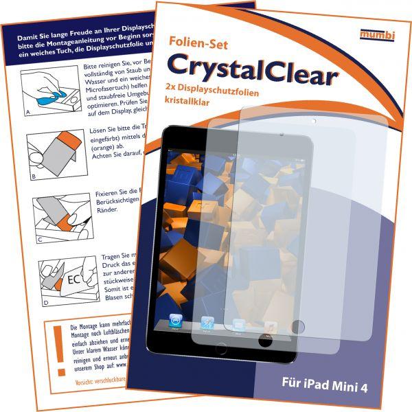 Displayschutzfolie 2 Stck. CrystalClear für Apple iPad mini 4 (2015)