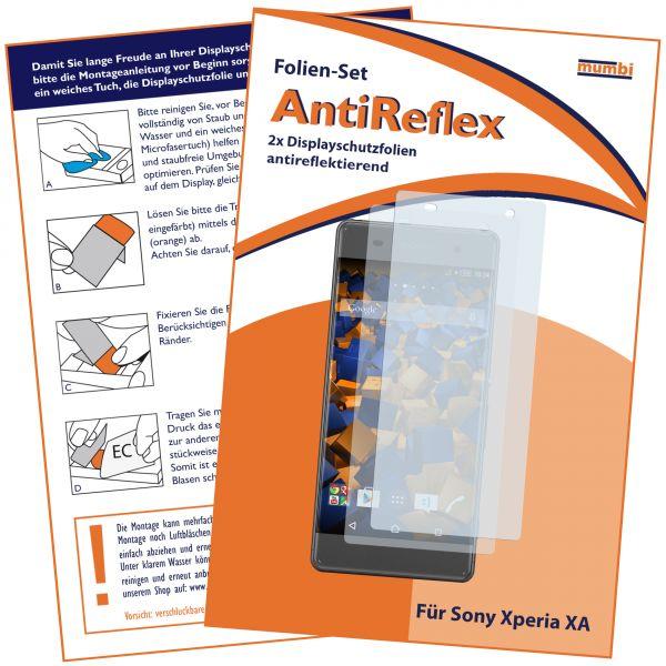 Displayschutzfolie 2 Stck. AntiReflex für Sony Xperia XA