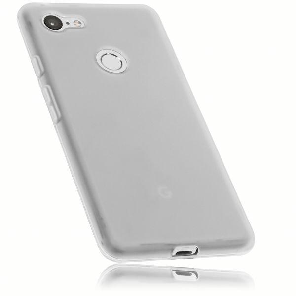 TPU Hülle weiß transparent für Google Pixel 3 XL
