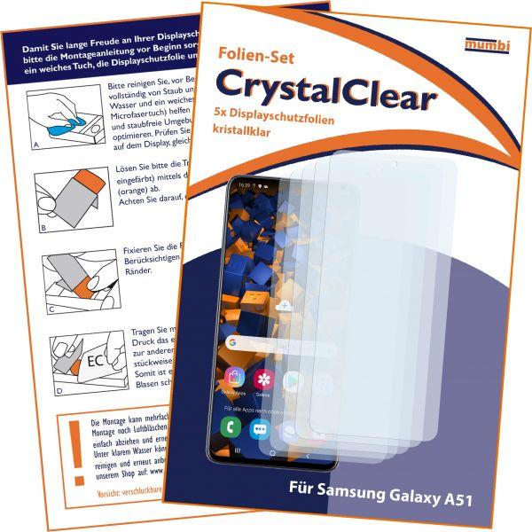 Displayschutzfolie 5 Stck. CrystalClear für Samsung Galaxy A51