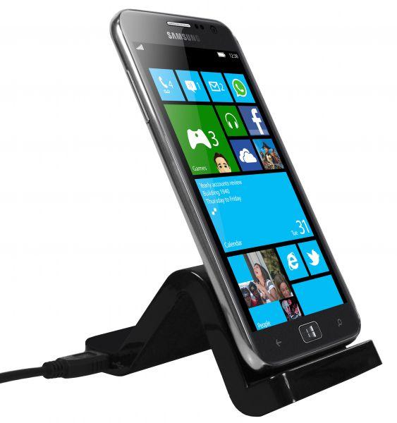 Dockingstation + USB Datenkabel schwarz für Samsung Ativ S