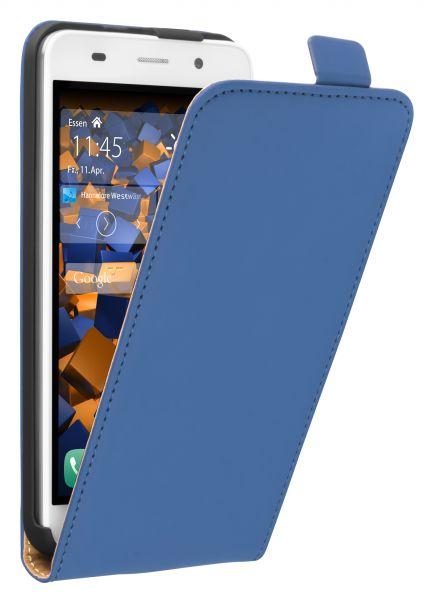 Flip Case Tasche blau für Huawei Y6 (2015)