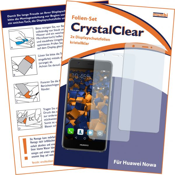 Displayschutzfolie 2 Stck. CrystalClear für Huawei Nova