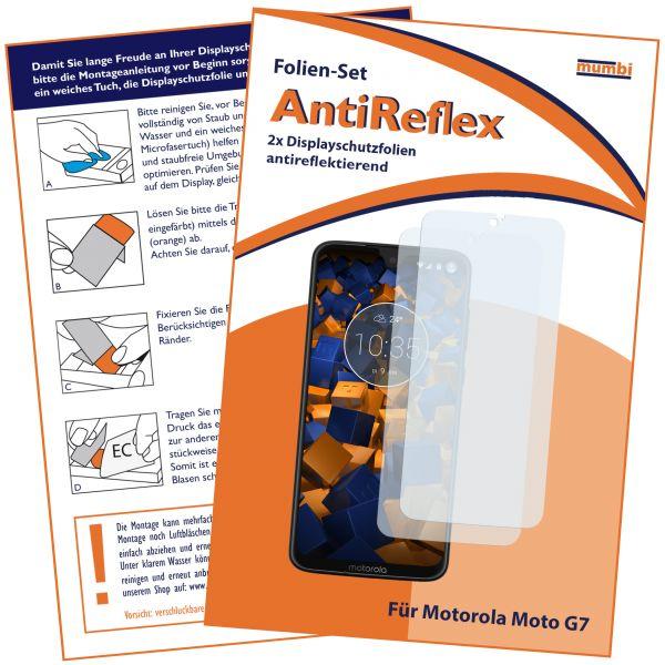 Displayschutzfolie 2 Stck. AntiReflex für Motorola Moto G7