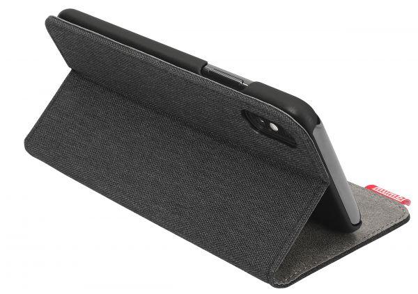 Bookstyle Tasche fineline schwarz für Apple iPhone XS / X