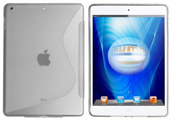 TPU Hülle S-Design schwarz transparent für Apple iPad Air 1