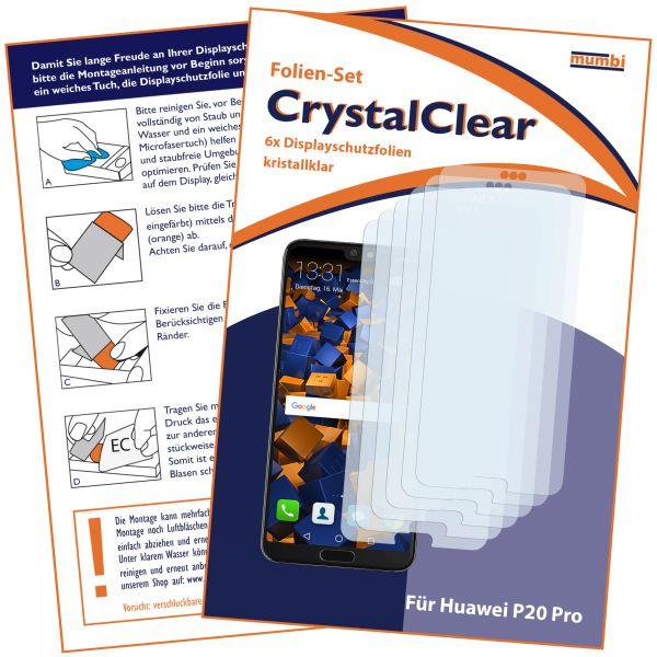 Displayschutzfolie 6 Stck. CrystalClear für Huawei P20 Pro