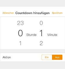 Countdown Timer der mumbi WLAN-Steckdosen App