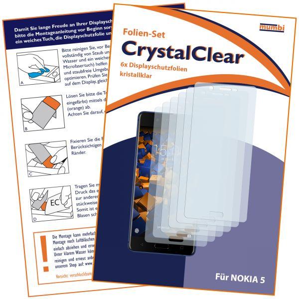 Displayschutzfolie 6 Stck. CrystalClear für Nokia 5