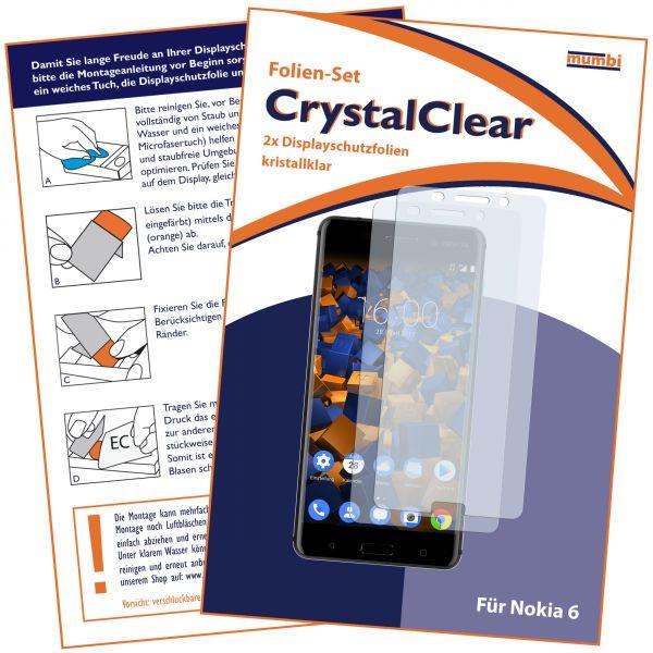 Displayschutzfolie 2 Stck. CrystalClear für Nokia 6 (2017)