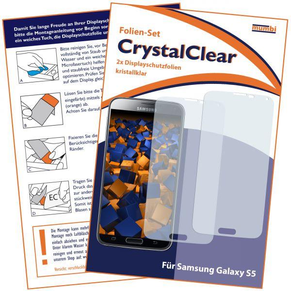 Displayschutzfolie 2 Stck. CrystalClear für Samsung Galaxy S5 / S5 Neo