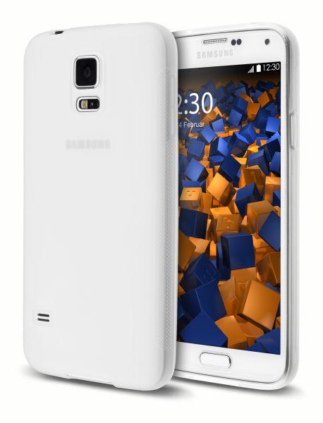 TPU Hülle double GRIP weiß transparent für Samsung Galaxy S5 / Galaxy S5 Neo