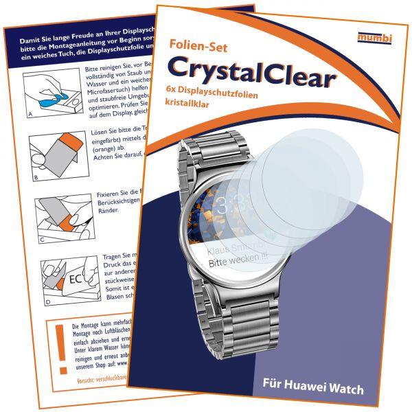 Displayschutzfolie 6 Stck. CrystalClear für Huawei Watch