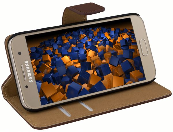 Bookstyle Tasche braun für Samsung Galaxy A3 (2017)