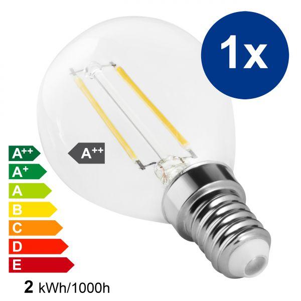 XQLite LED Lampe E14 2W 2700 Kelvin warmweiß 200 Lumen Energieklasse A++