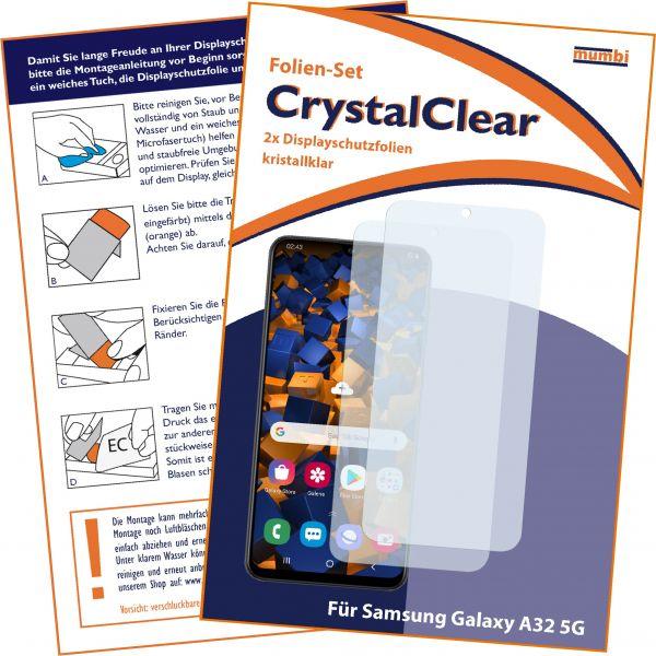 Displayschutzfolie 2 Stck CrystalClear für Samsung Galaxy A32 5G