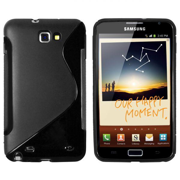 TPU Hülle S-Design schwarz für Samsung Galaxy Note N7000