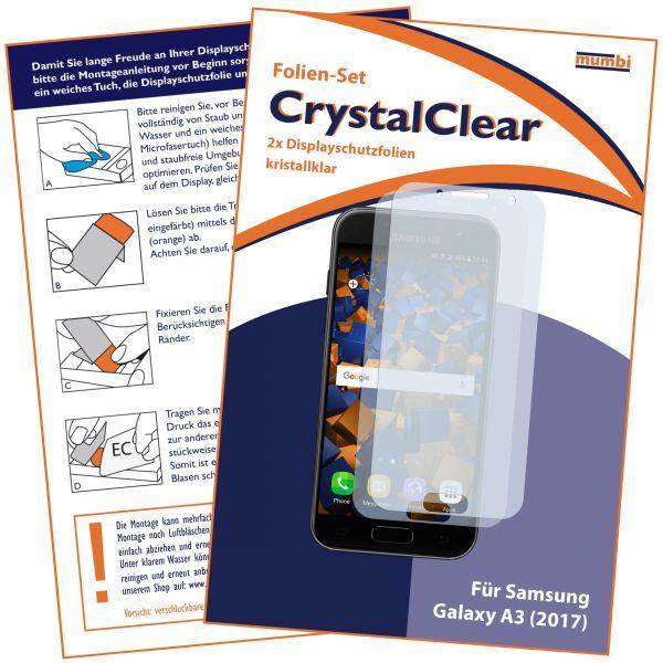 Displayschutzfolie 2 Stck. CrystalClear für Samsung Galaxy A3 (2017)