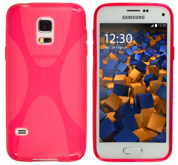 TPU Hülle X-Design pink transparent für Samsung Galaxy S5 Mini