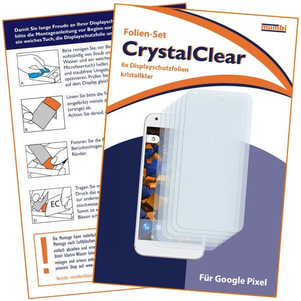 Displayschutzfolie 6 Stck. CrystalClear für Google Pixel