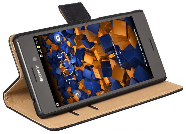 Bookstyle Tasche schwarz für Sony Xperia M4 Aqua