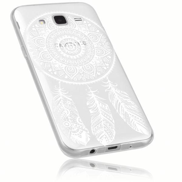 TPU Hülle Ultra Slim transparent Motiv Traumfänger für Samsung Galaxy J5 (2015)