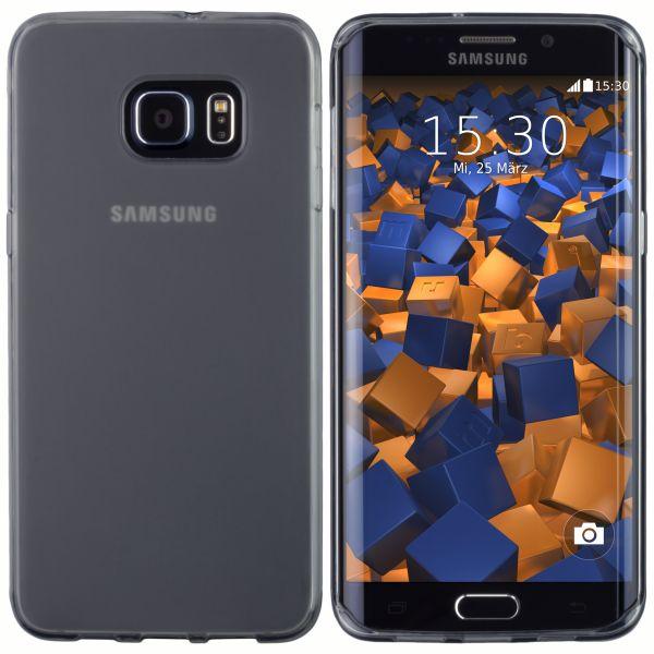 TPU Hülle transparent schwarz für Samsung Galaxy S6 Edge Plus