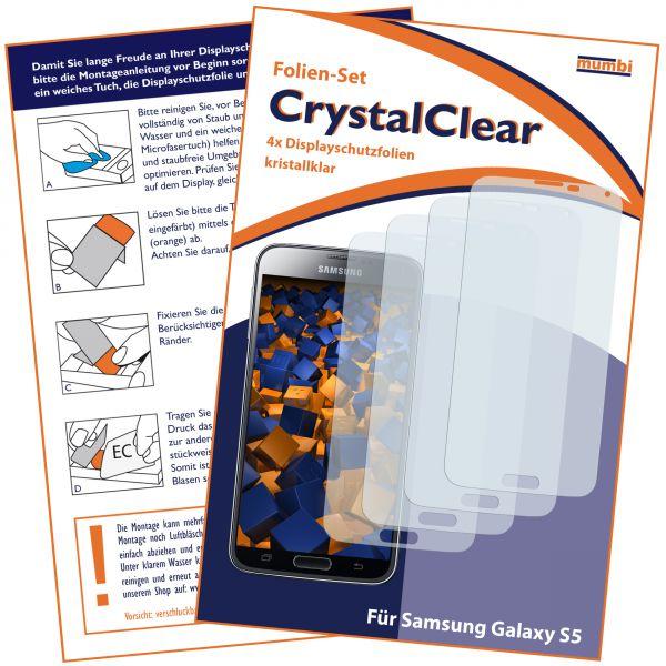Displayschutzfolie 4 Stck. CrystalClaer für Samsung Galaxy S5 / S5 Neo