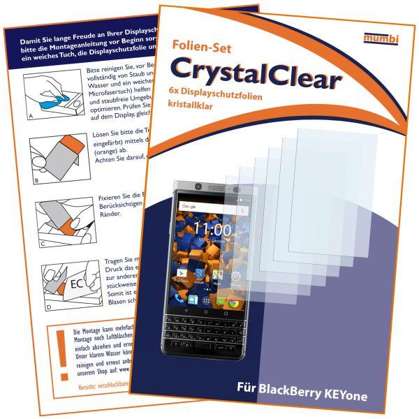 Displayschutzfolie 6 Stck. CrystalClear für Blackberry KEYone