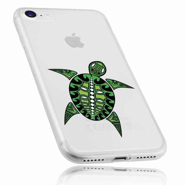 TPU Hülle Ultra Slim UV beständig transparent Motiv Schildkröte für Apple iPhone 8 / 7