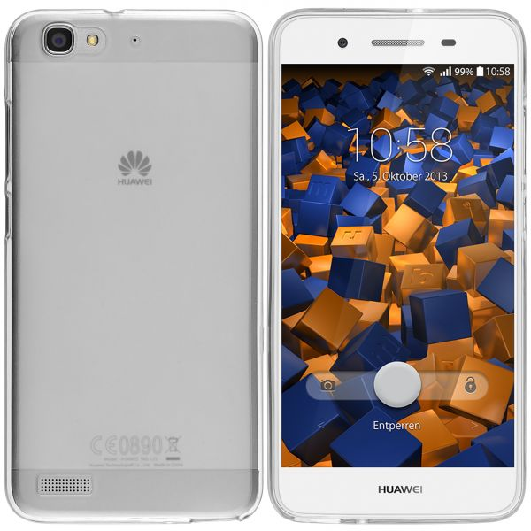 TPU Hülle weiß transparent für Huawei GR3 / P8 Lite Smart