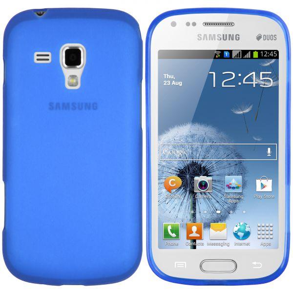 TPU Hülle blau transparent für Samsung Galaxy S Duos / Duos 2