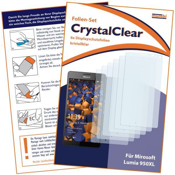 Displayschutzfolie 6 Stck. CrystalClear für Microsoft Lumia 950 XL