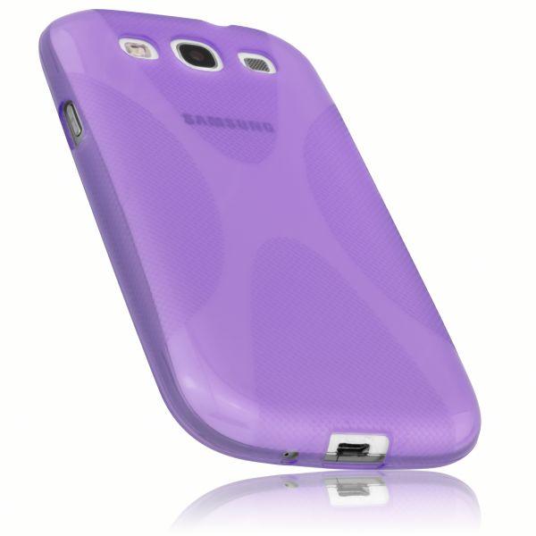 TPU Hülle X-Design transparent lila für Samsung Galaxy S3 / S3 Neo