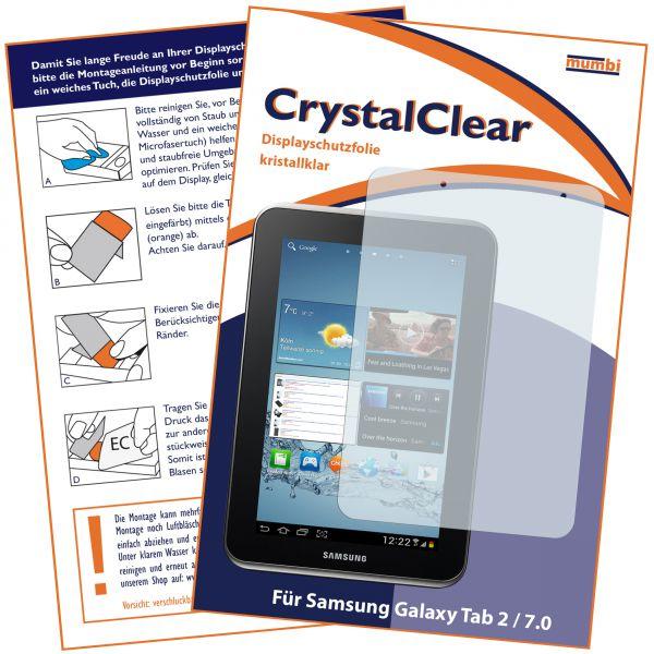 Displayschutzfolie CrystalClear für Samsung Galaxy Tab 2 7.0