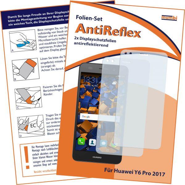 Displayschutzfolie 2 Stck. AntiReflex für Huawei Y6 Pro (2017) / P9 Lite mini