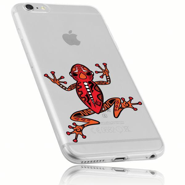 TPU Hülle Ultra Slim transparent Motiv Frosch für Apple iPhone 6 / 6s