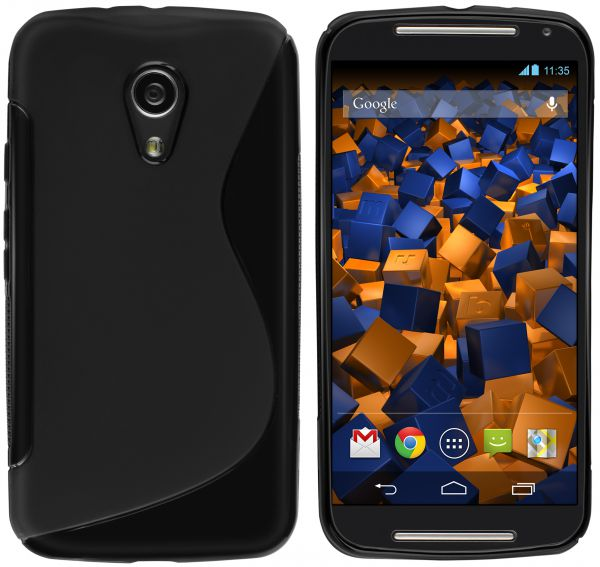 TPU Hülle S-Design schwarz für Motorola Moto G 2. Generation