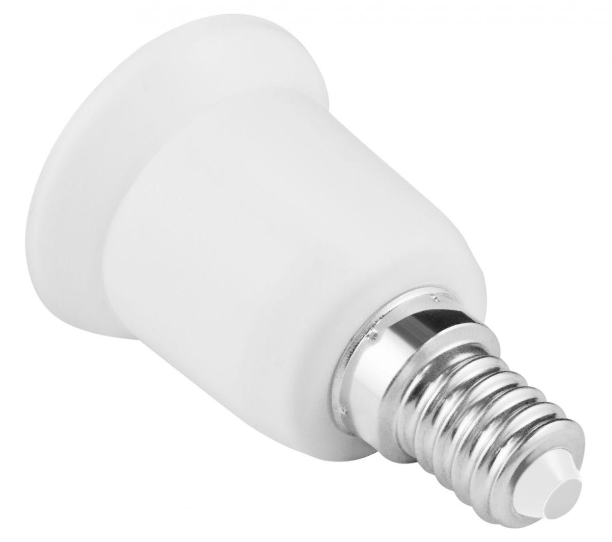 mumbi lampensockel adapter e14 auf e27 lampe leuchte sockel birne fassung bulb ebay. Black Bedroom Furniture Sets. Home Design Ideas